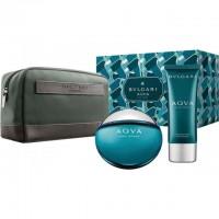 Bvlgari Aqva Pour Homme Подарочный набор (туалетная вода 100 мл + бальзам после бритья 100 мл + сумка)