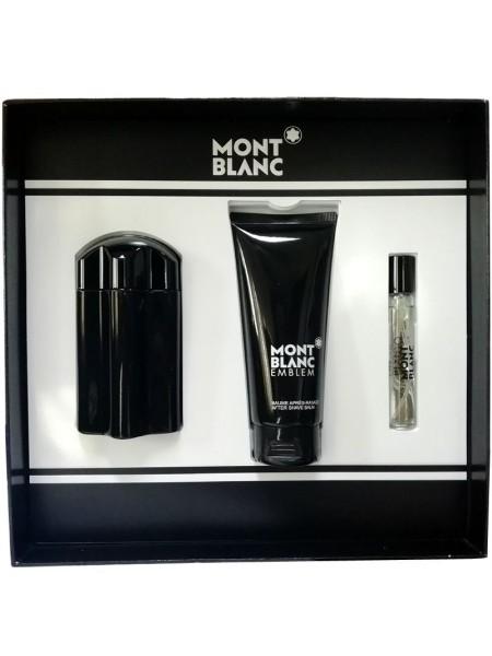 Montblanc Emblem Подарочный набор (туалетная вода 100 мл + миниатюра 7.5мл + бальзам после бритья 100 мл)